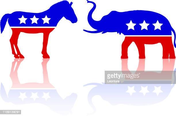 アメリカの政治 - アメリカ共和党点のイラスト素材/クリップアート素材/マンガ素材/アイコン素材