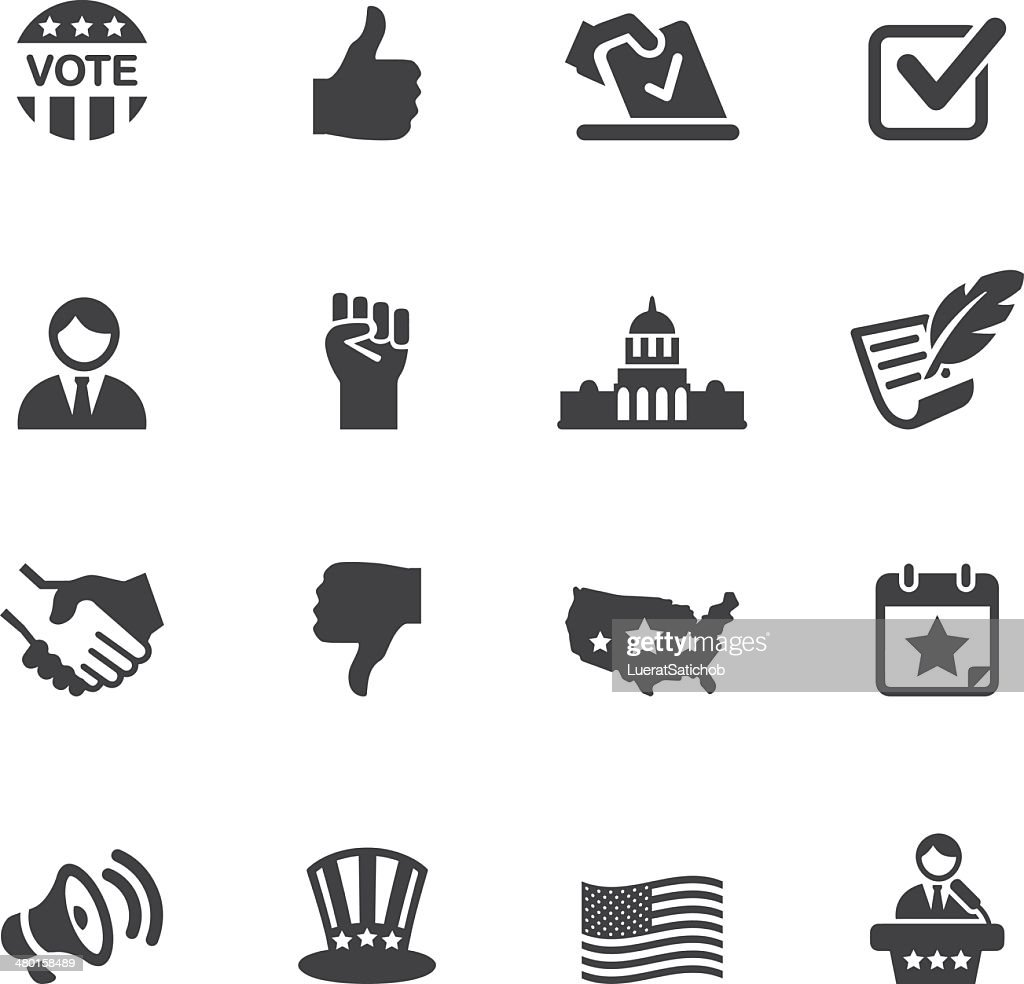 Politik Silhouette Icons 1 : Stock-Illustration