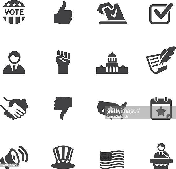 politics silhouette icons 1 - thumbs down stock illustrations
