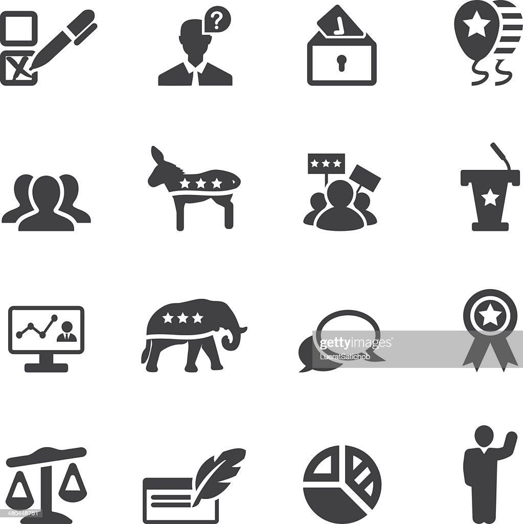 Politics Silhouette Icons 2