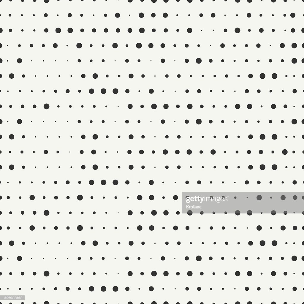 Polka dot. Geometric hipster seamless pattern with round, dotted circle.