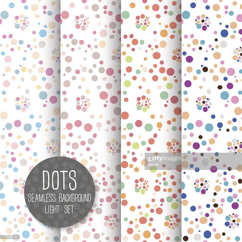 Polka Dot Seamless pattern. Vector background. Neutral light set