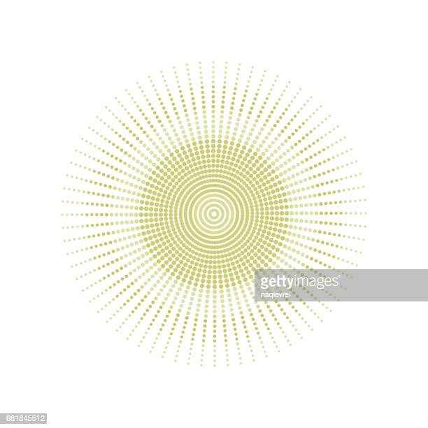 Polka dots circle pattern vector