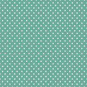 Polka dots on mint green background