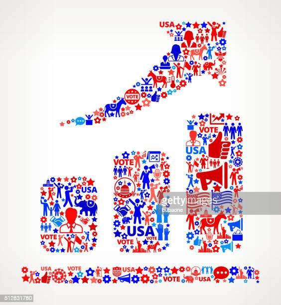 ilustrações, clipart, desenhos animados e ícones de pesquisa votação e eleições eua patrióticas ícone padrão - usa