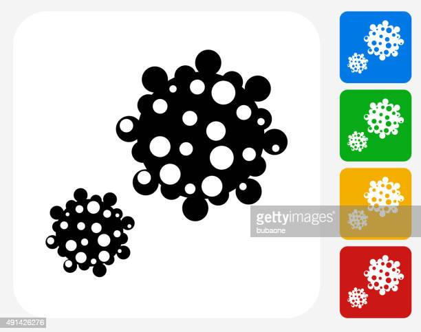 pollen icon flat graphic design - pollen stock illustrations
