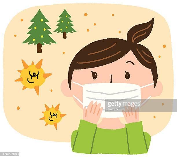 pollen prevention - pollen stock illustrations, clip art, cartoons, & icons