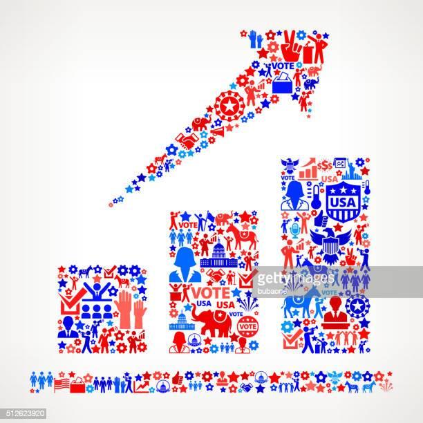 ilustrações, clipart, desenhos animados e ícones de votação das eleições e as eleições eua patrióticas ícone padrão - usa