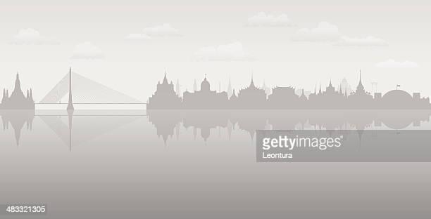 Pollué Bangkok (terminer, amovible, des bâtiments)