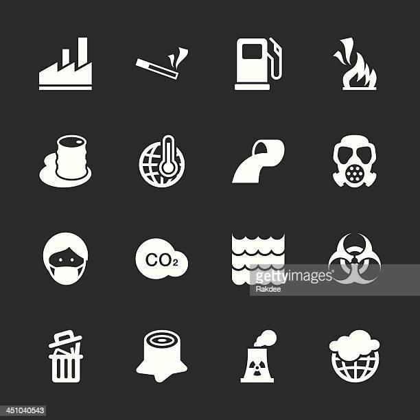 Contaminación iconos/serie EPS10-blanco