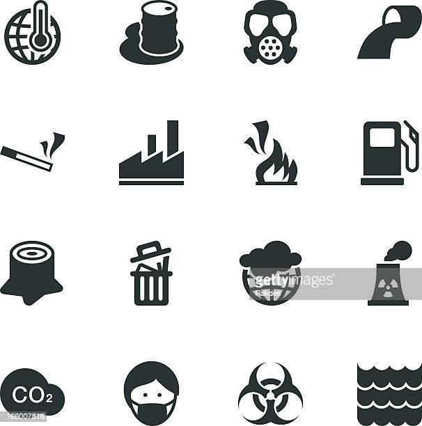 Silhueta de ícones de Poluição