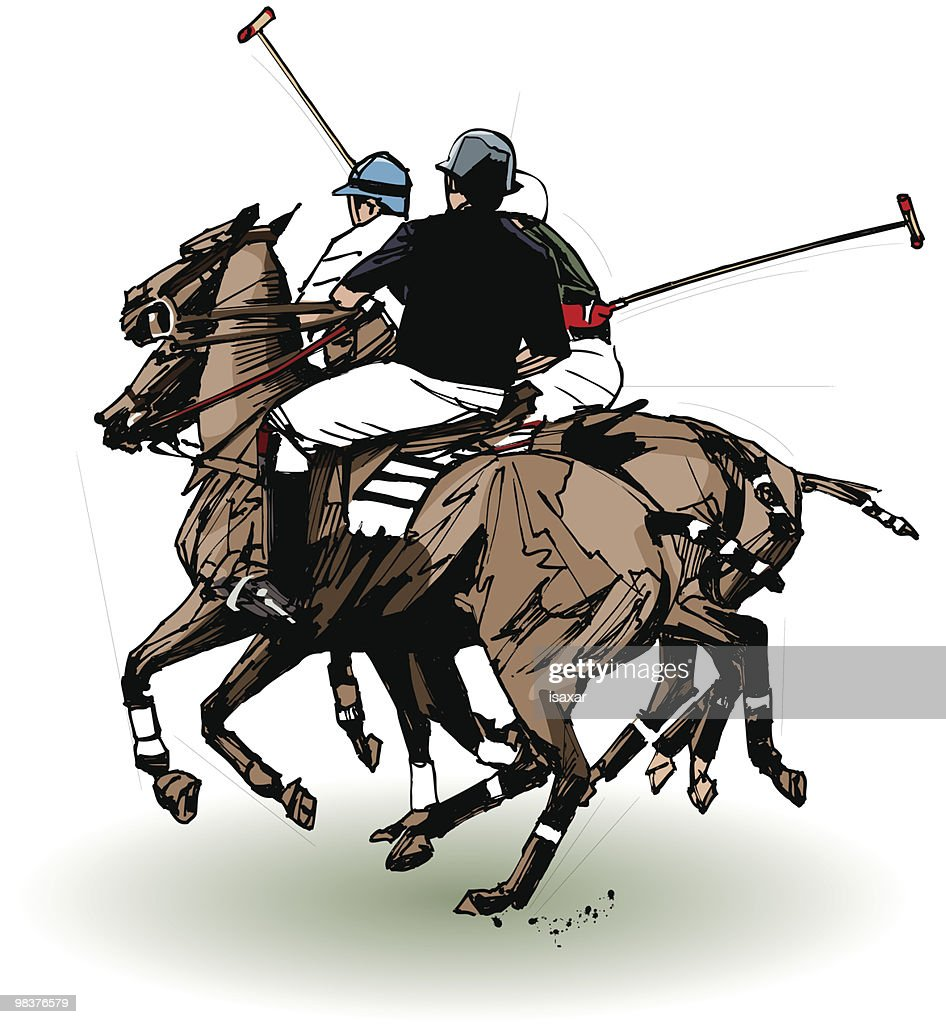polo players (hand drawing)