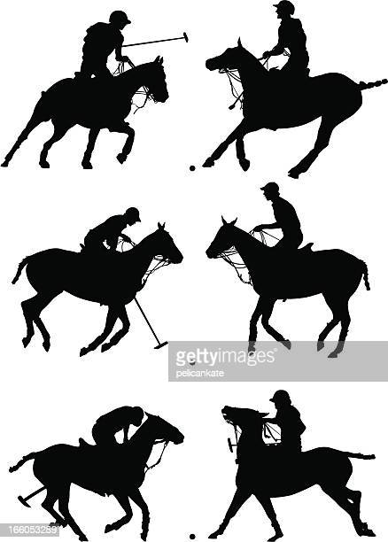 polo profiles - polo stock illustrations
