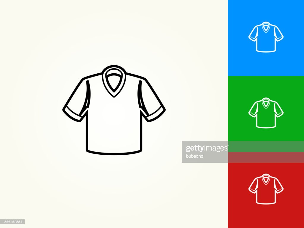 Polo Shirt Black Stroke Linear Icon Vector Art Getty Images