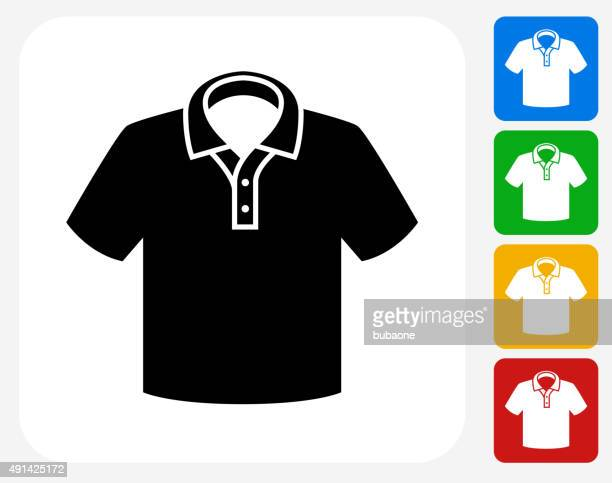 Polo Shirt Icon Flat Graphic Design
