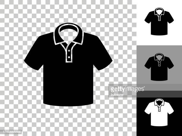 polo shirt icon on checkerboard transparent background - all shirts stock illustrations