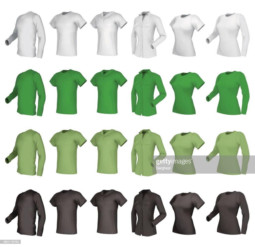 Polo, shirts and t-shirts set.
