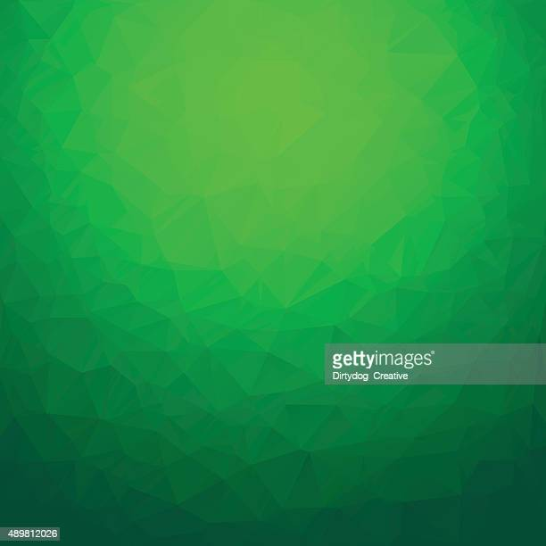 Polygon abstract background green