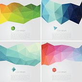Polygon abstract backgrounds with text
