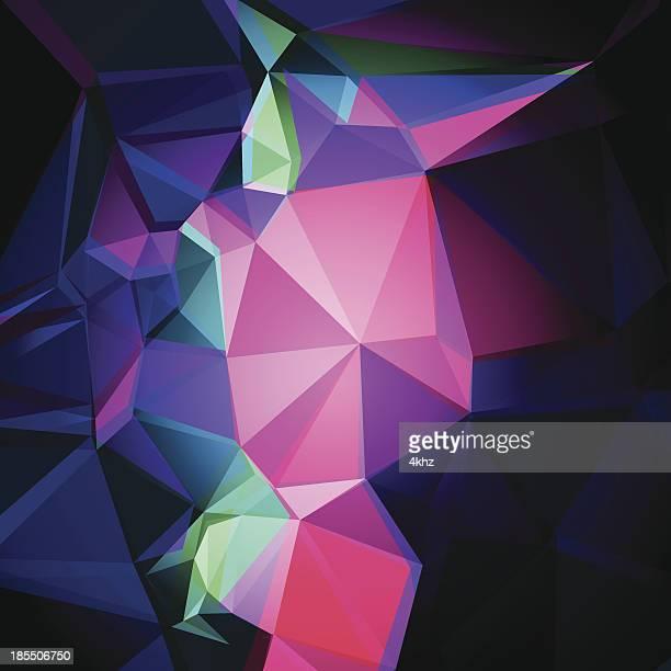 Polígono abstrato fundo gráfico de arte vetorial de Stock