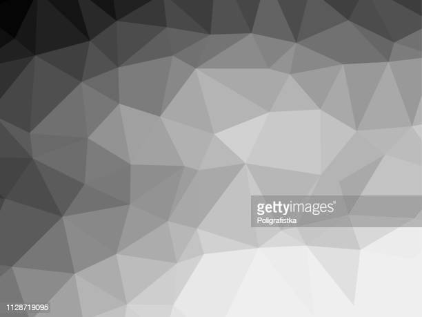polygon background pattern - polygonal - black and white wallpaper gray - vector illustration - gray background stock illustrations