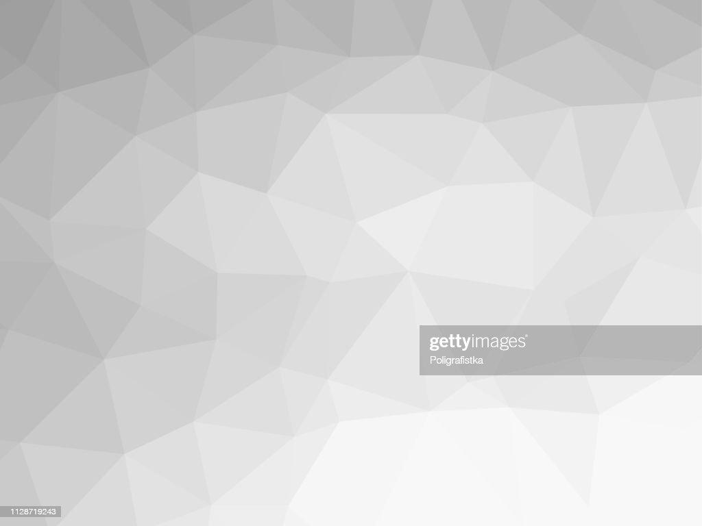 Polygon background pattern - polygonal - black and white wallpaper gray - vector Illustration : Ilustração de stock