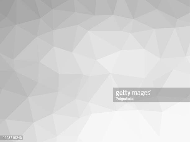polygon background pattern - polygonal - black and white wallpaper gray - vector illustration - triangle shape stock illustrations