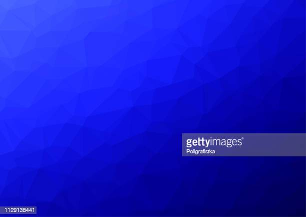 Polygon background pattern - polygonal - blue wallpaper - vector Illustration
