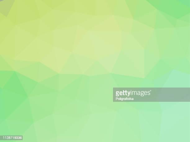 polygon background pattern - polygonal - green wallpaper - vector illustration - green background stock illustrations