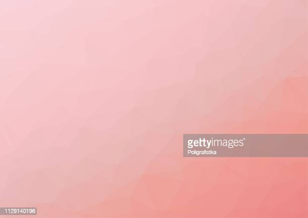 polygon background pattern - polygonal - pink wallpaper - vector illustration - rose colored stock illustrations