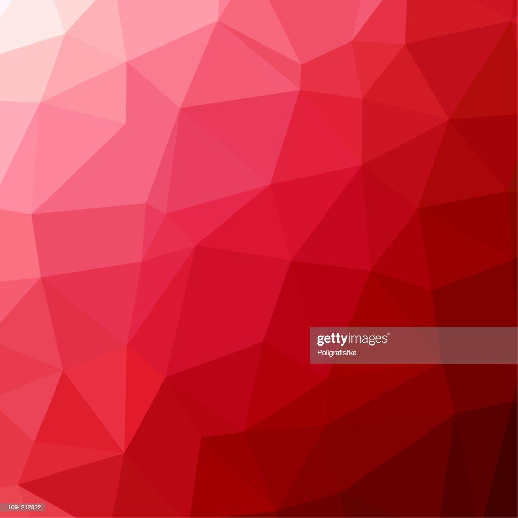 Motivo di sfondo poligonale - poligonale - sfondo rosso - illustrazione vettoriale : Illustrazione stock