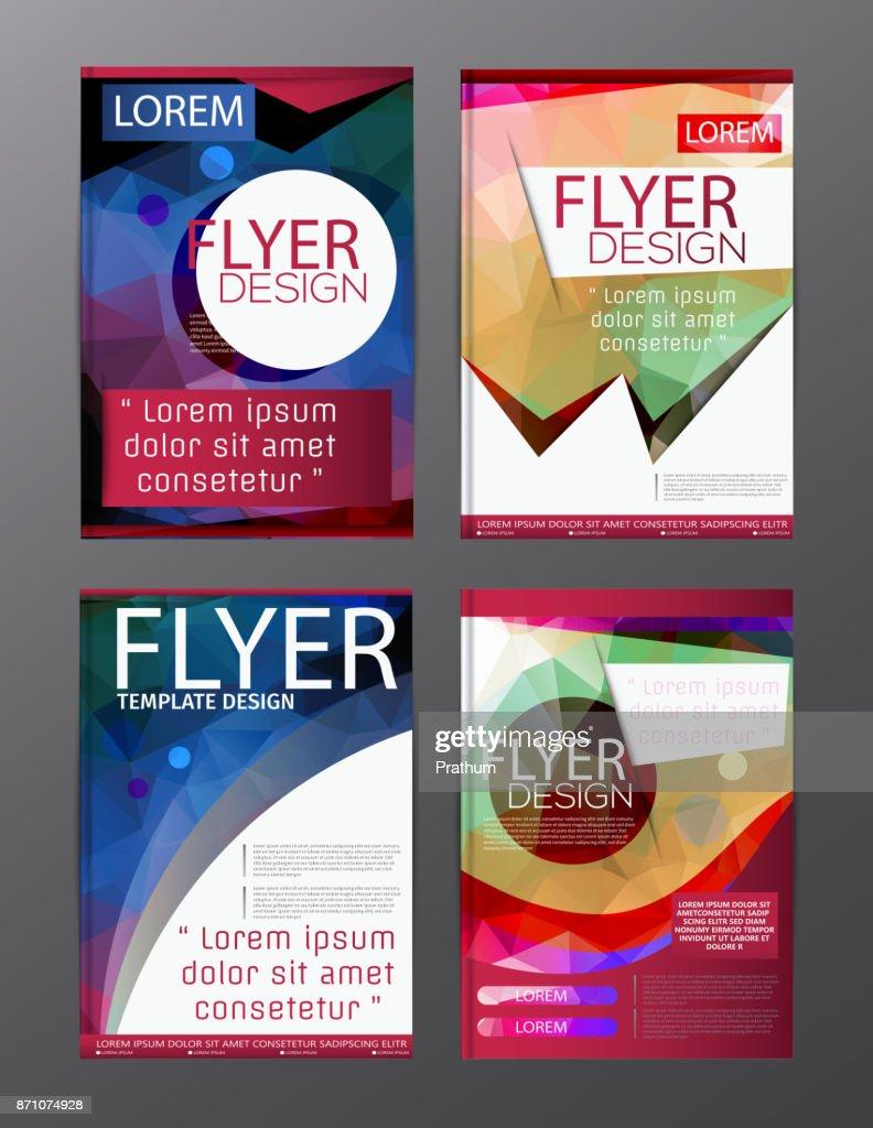 Polygon Brochure Flyer, magazine cover brochure template design for business education presentation, Editable vector illustration