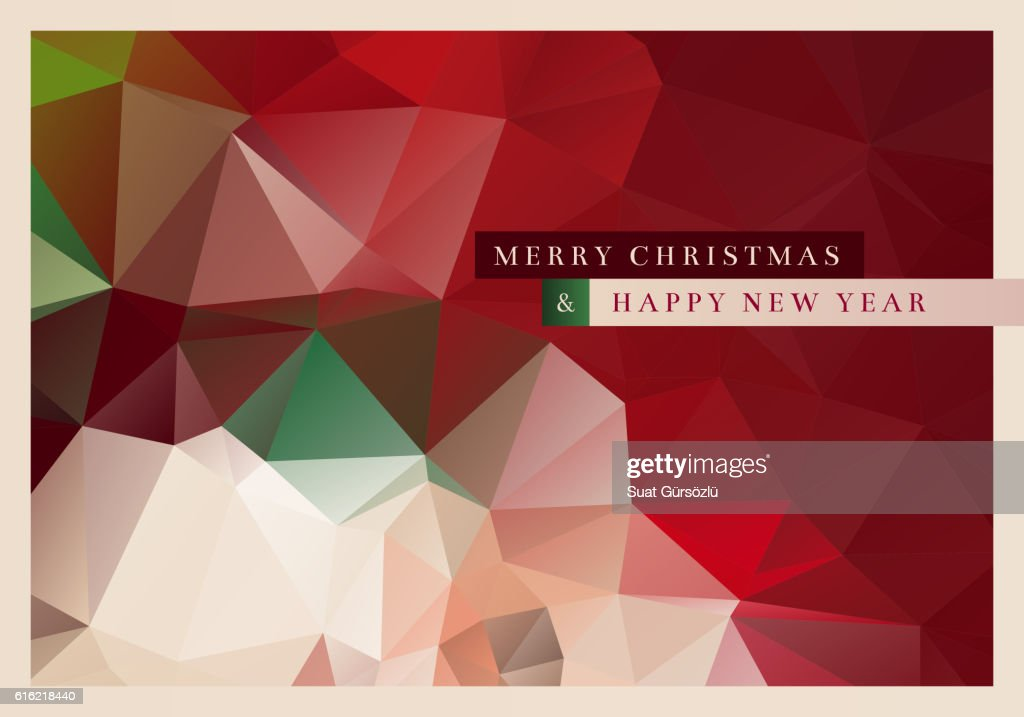 Polygon Christmas Greeting Card : Vektorgrafik
