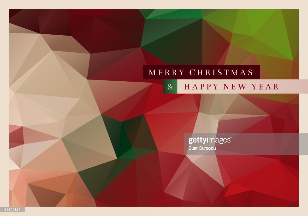 Polygon Christmas Greeting Card : Vector Art