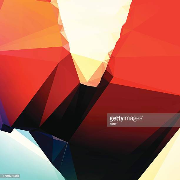 Polígono Deconstructive futurista geométrico abstrato de fundo Vector arte gráfica