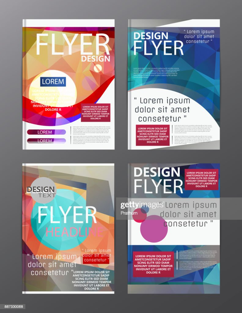 polygon modern brochure layout design templateflyer leaflet cover presentation vector art