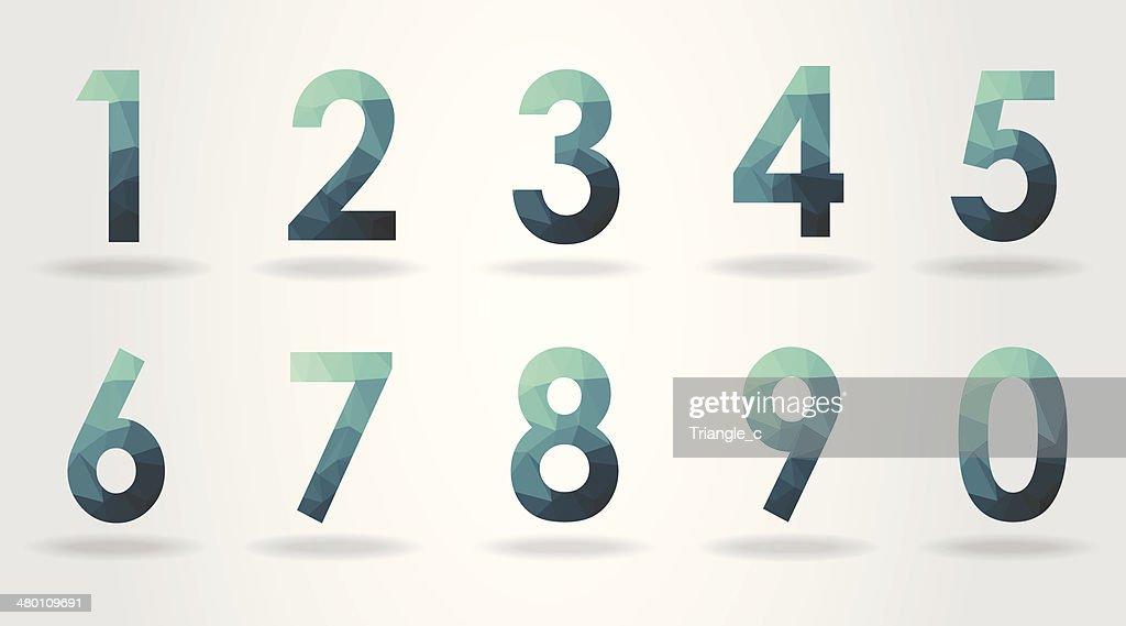 polygon number set