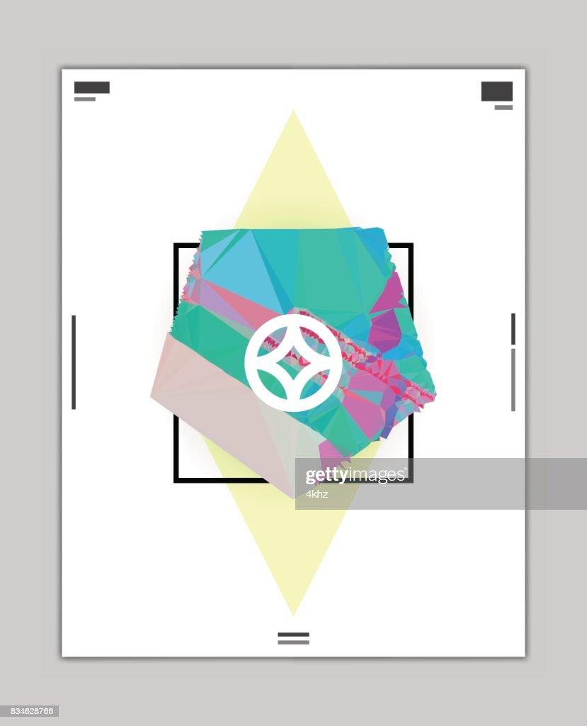 ポリゴン国防総省抽象グラフィック デザイン ポスター レイアウト