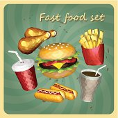 Polygon style fast foods set