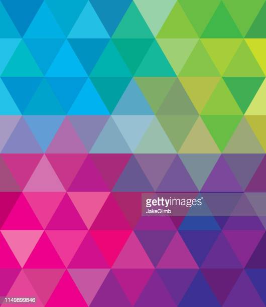 polygon triangle background - multi colored background stock illustrations