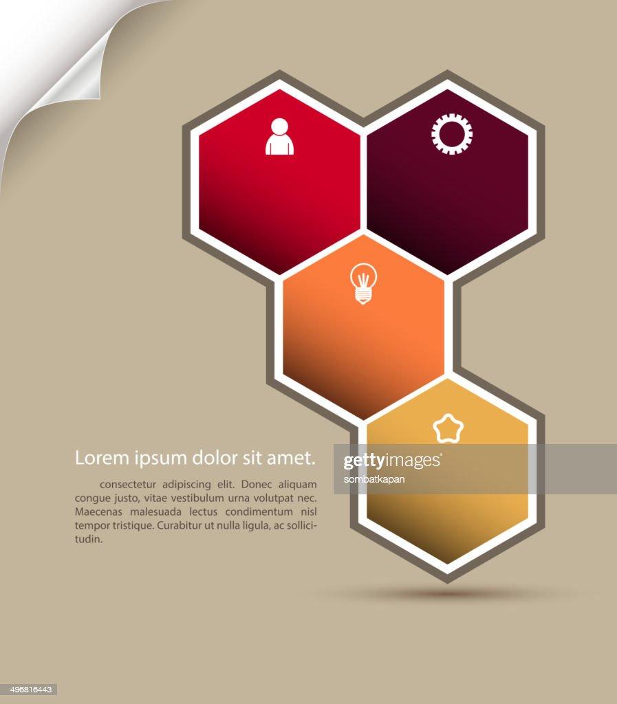 Polygon vector infographic.