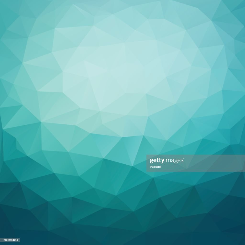 Polygonal abstract geometric dark blue triangular low poly style gradient background illustration