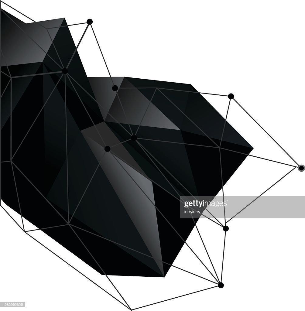 Polygonal background : Vector Art