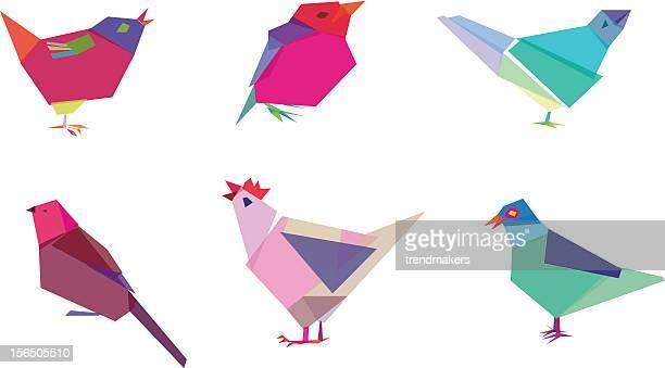 polygonal birds - hawk bird stock illustrations, clip art, cartoons, & icons
