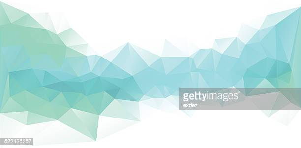 polygonal design blue - folded stock illustrations