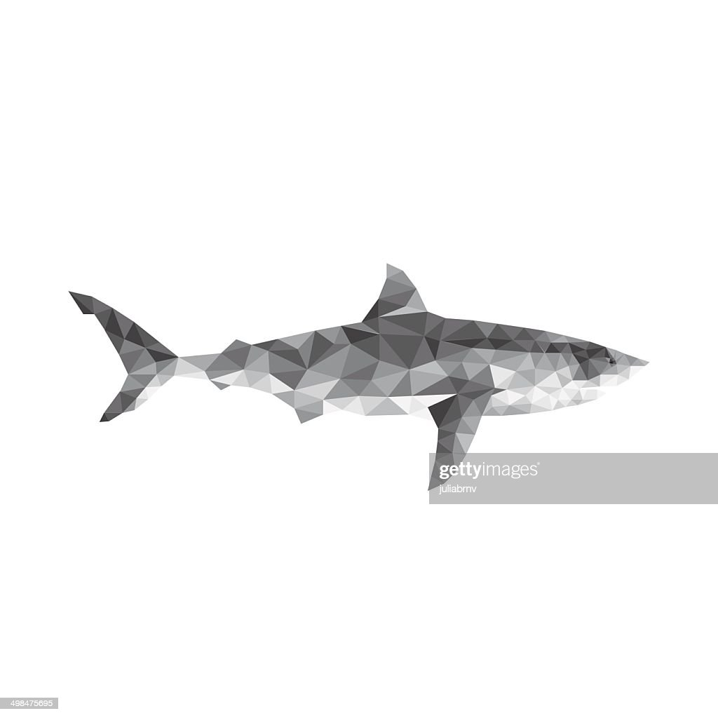 Polygonal geometric fish - shark
