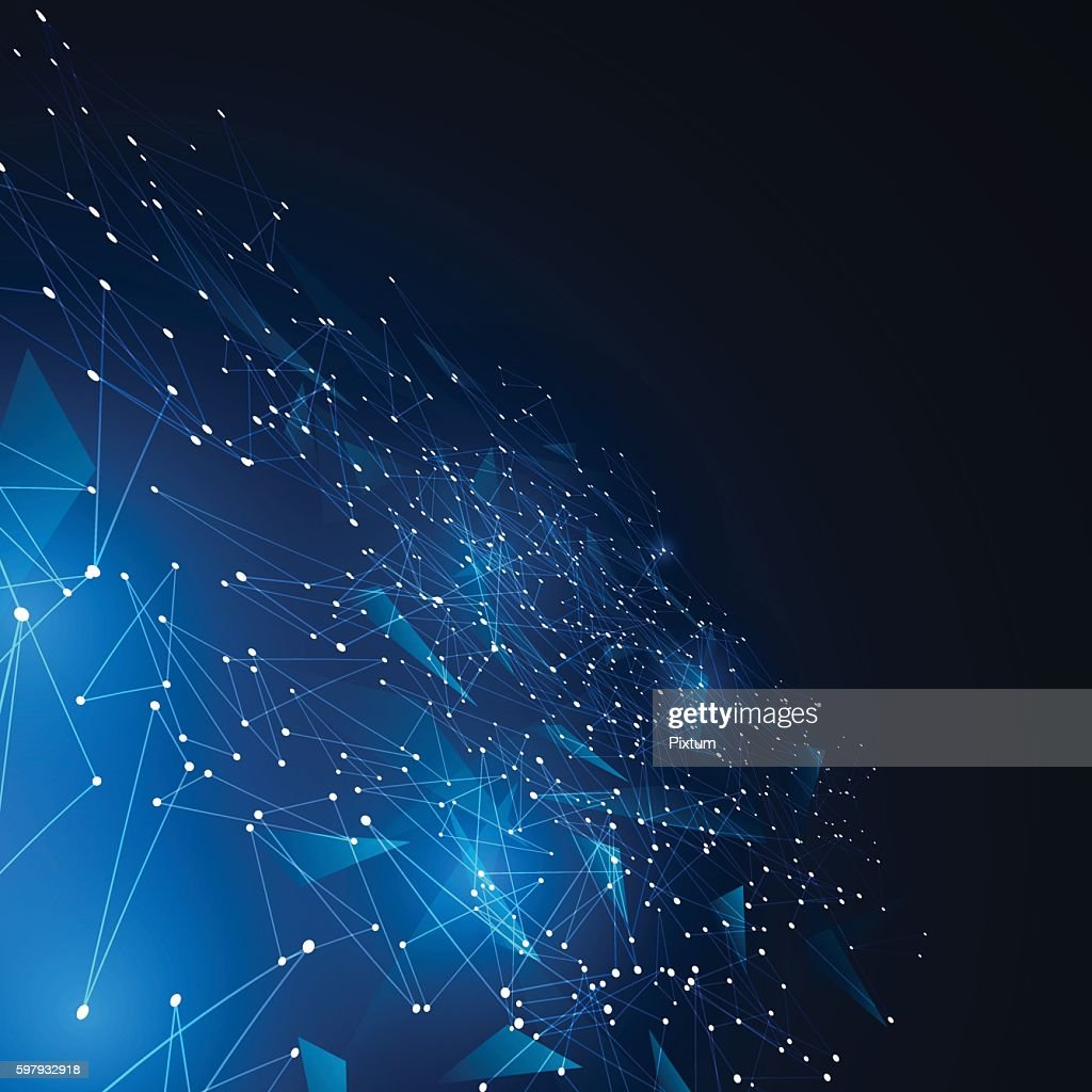 polygonal geometric networking connection concept background