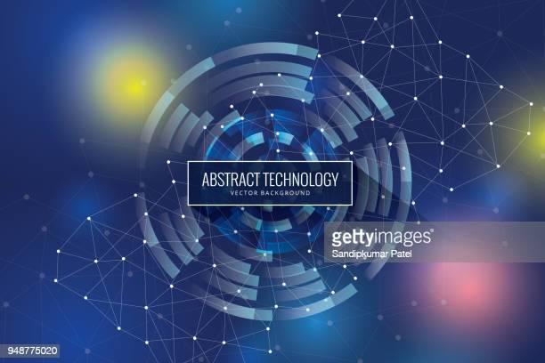 ilustrações de stock, clip art, desenhos animados e ícones de polygonal geometric networking connection concept background - ciência e tecnologia