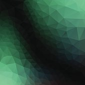 polygonal  green  background