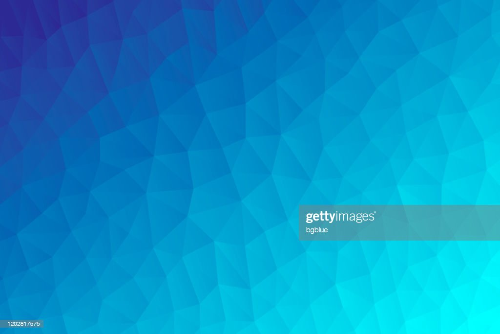 Polygonal mosaic with Blue gradient - Abstract geometric background - Low Poly : stock illustration